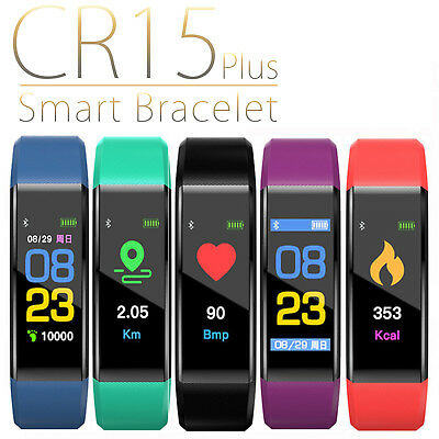 SMARTWATCH CARDIOFREQUENZIMETRO FITNESS TRACKER SPORT CR15 OROLOGIO ANDROID iOS