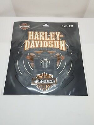 NEW Authentic Harley Davidson Emblem Large Motorcycle 7 x 7