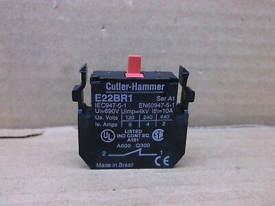 E22BR1 Eaton Cutler Hammer NEW 1NC Pushbutton Added Pressure Contact Block