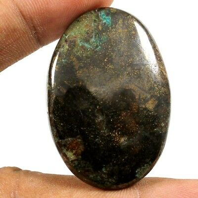 64.35 cts Natural Excellent Designer Pyrite Azurite Gemstone Oval Loose Cabochon