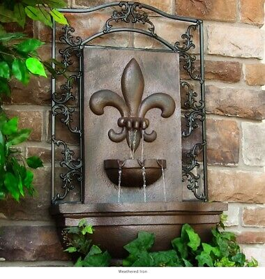 Sunnydaze Decor Solar French Inspired Wall Fountain