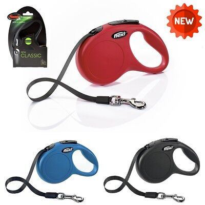 Flexi Dog Lead Tape Classic New Style Retractable Dog Lead 8m Small Medium