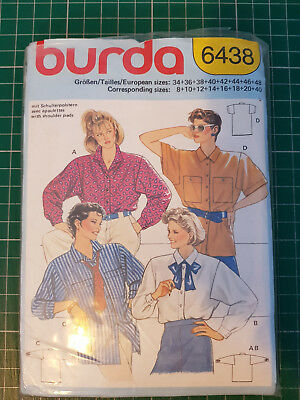 BURDA SEWING PATTERN Ladies Sporty Shirt Blouse Size 8 - 20 2561 ...
