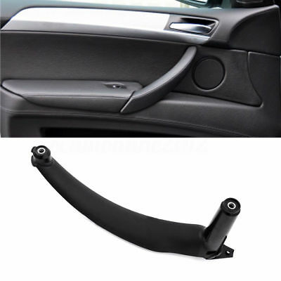 BMW Left Side Inner Door Panel Handle Pull Trim Cover Fit BMW E70 X5 Black