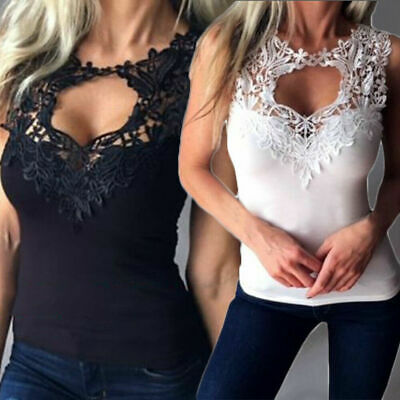 Sexy Deep V Vest Womens Summer Sleeveless Tank T Shirt Blouse Ladies Zipper Tops