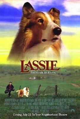 Lassie Original Rolled Movie Poster Double Sided 1994 Helen Slater Rough Collie