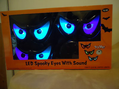 Halloween Spooky Eyes Lights With Sound Color  Changing New In Box