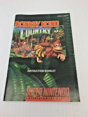 Donkey Kong Country Super Nintendo SNES Instruction Booklet Manual Only VG+