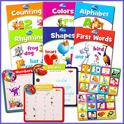 Disney Learning Books Set For Toddlers Kids 6 Educational Matching Game 3 Mats A
