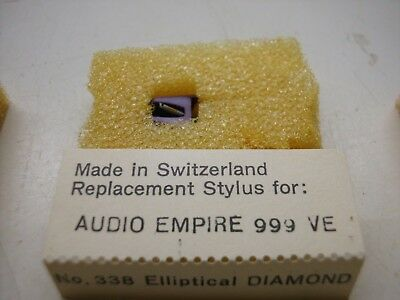 338 Ersatz Tonnadel Replacement Stylus Audio Empire 999 VE