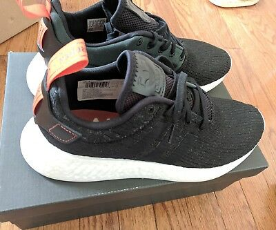 f023d243e0fb6d Like us on Facebook · Adidas Men s Shoes NMD R2 CG3384 Core Black Future  Harvest Primeknit Size 9