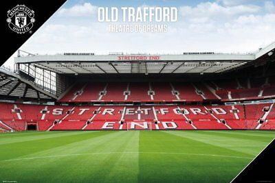 MUFC Poster - OLD TRAFFORD STRETFORD END- New MUFC Football poster SP1477