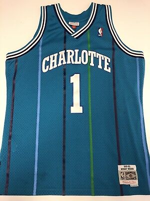 cb45aa8ab1d ... reduced mugsy bogues charlotte hornets throwback jersey large mitchell  ness 9f92b 7d39c purchase muggsy bogues adidas nba mens retired player  swingman ...