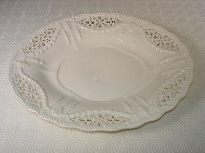 Leedsware Classical Creamware -  Oval Reticulated Plate with Garlands