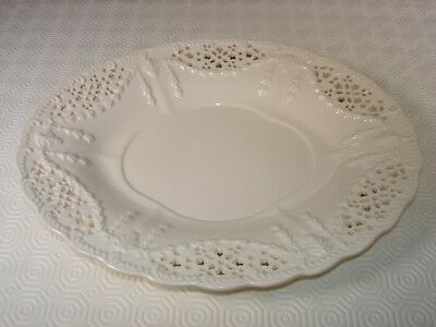 Royal Creamware 'Originals' Creamware -  Oval Reticulated Plate with Garlands