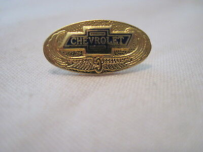 Chevrolet Bow Tie Gold Colored Wings Chevy  Hat Pin,lapel Pin