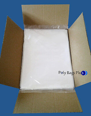 500 10x14 Clear Poly Plastic Bags FREE PRIORITY 1Mil LDPE Open Top FDA Baggie