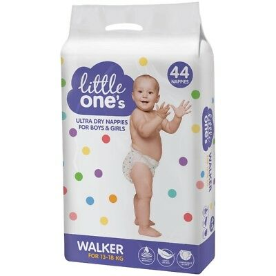 Little One's Walker Ultra Dry Nappies 44 Pack