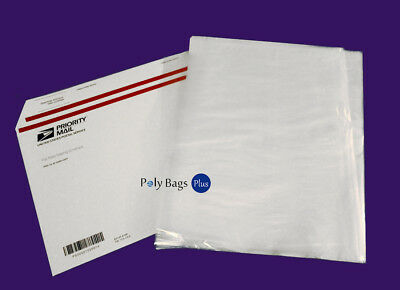 100 12x20 Clear Poly Plastic Bags FREE PRIORITY 1Mil LDPE Open Top FDA Baggie