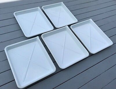 Set Of Five 16 X 20 Inch Poly Darkroom Developing Trays Excellent Condition