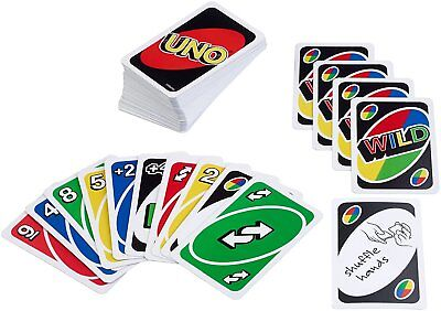 Mattel Games UNO Card Game Playing Cards Family Kids Adults