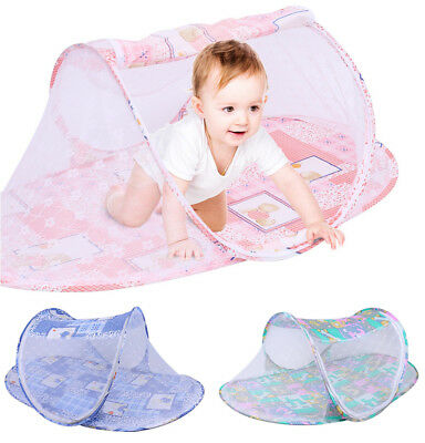 Baby Newborn Infant Folding Outdoor Crib Canopy Mosquito Bed Cot Tent Netting