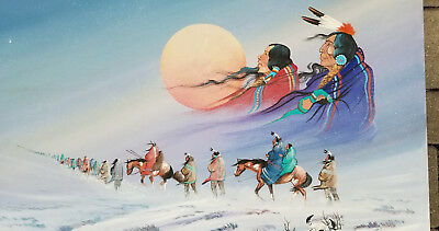 Native American Painting by Johnny Yazzie