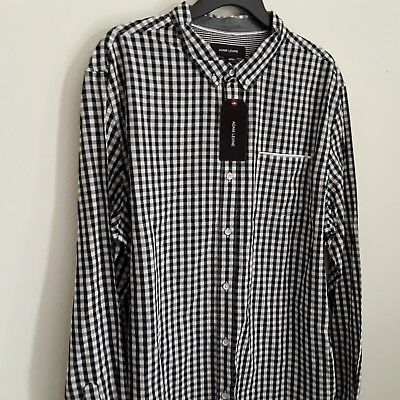 Mens long sleeve dress shirt brand Adam Levine new with tags color black, white