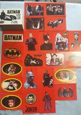 Topps 1989 Batman Dc Comics Series 1~Complete 154 Trading Cards W/ Sticker Cards