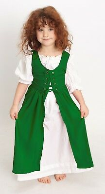 Renaissance Child 's Princess Party OVERDRESS ONLY Size:Princess Color: Green