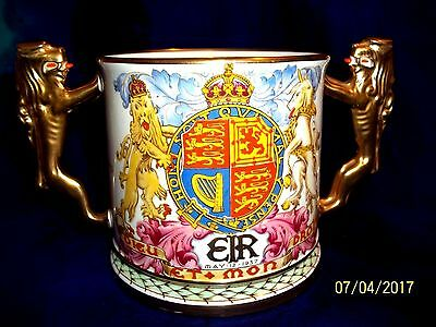 1937 Paragon Coronation King Edward Viii #359 & #426/1000 Extra Large Loving Cup