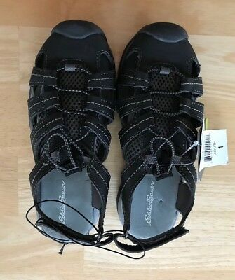 57cad4355b29 EDDIE BAUER BOY S Bump Toe Sandal Black Grey Size 1 Youth - Nice ...