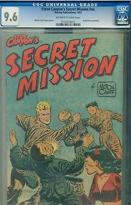 Steve Canyon's Secret Mission #1 CGC 9.6 Rare Armed Forces Giveaway Harvey 1951