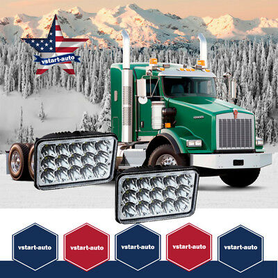 DOT 2PC LED Headlights CREE Light Bulbs Crystal Clear Sealed Beam Headlamp Pack