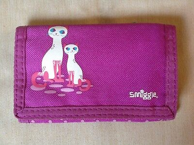 Smiggle Kids Wallet Pink/Purple Cute Kittens/Cats