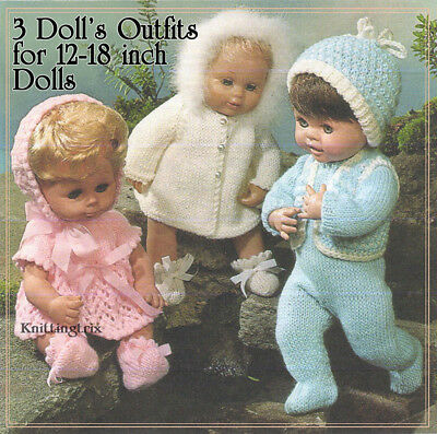 3 DOLL OUTFITS KNITTING PATTERN (copy)