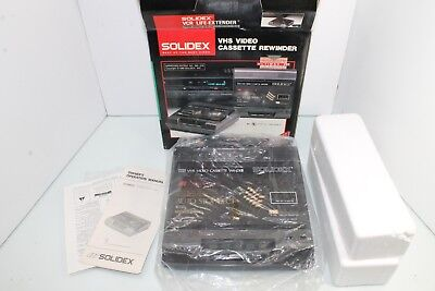 Solidex 6000XT Ultimax III Two Way VHS Rewinder W Box & Packing Paperwork