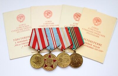 USSR Medal 40 Victory over Germany WWII 30 50 60 Soviet Army Armed Forces Doc
