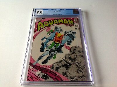 Aquaman 52 Cgc 9.0 Neal Adams Jim Aparo Deadman Backup Nick Cardy Dc Comics