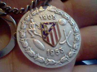 1953 Atletico At Madrid  Football Lavero  Keyring  Rare Spain  Bodas Oro