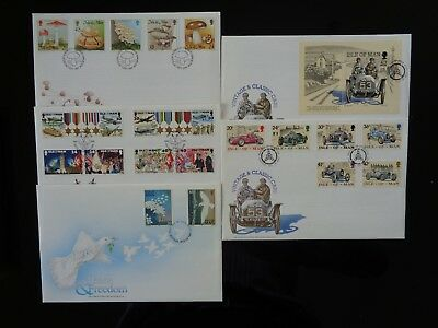 ISLE OF MAN 1995 5 x DIFFERENT COMMEMORATIVE FIRST DAY COVERS