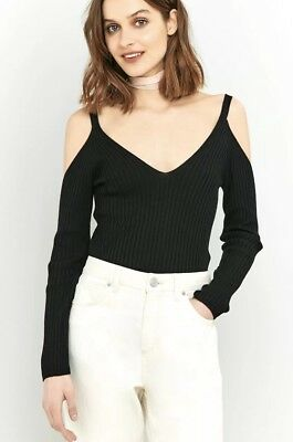 3fa9a59712 Urban Outfitters BNWOT Pins And Needles Cold Shoulder Ribbed Jumper Size XS