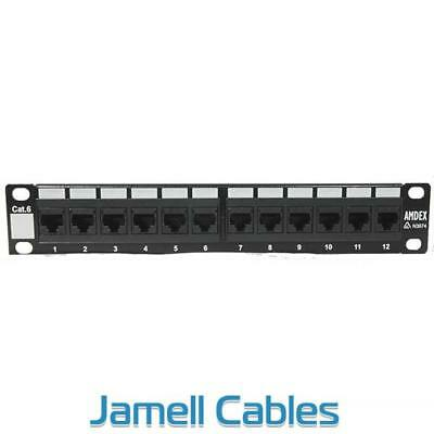 "Amdex SOHO 10"" CAT6 12 Port Patch Panel DA10-12P-C6"