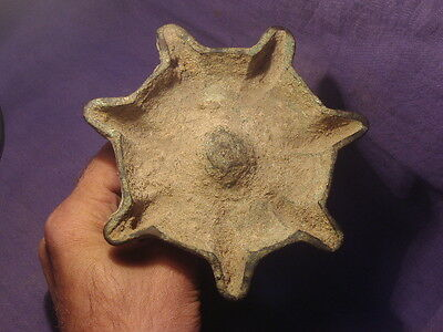 Ancient Bronze 7 Nozzles lamp Islamic 1300 AD  #BK491