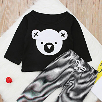 Long Sleeve Baby Boy T-shirt Tops +Long Pants Outfits Clothes Newborn Infant