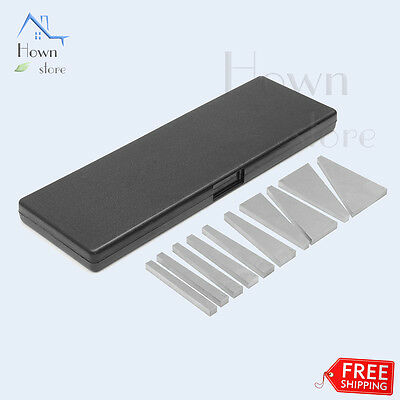 Precision Angle Block Lathe Milling Machinist Ground Plates HRC 55 Set Tool 10p