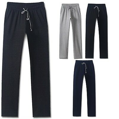 Mens Straight Training Jogger Running Sports Pants Sweatpants Gym Trousers MS047