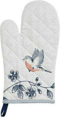 Ofenhandschuh 16x30 cm Early Bird blau