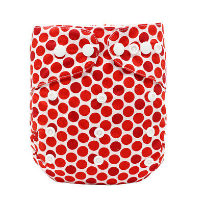 MABOJ Cloth Pocket Diaper Dot Print One Size Washable Pocket Nappy for 0-2Y Baby