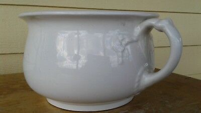 ANTIQUE (1800'S) CHAMBER POT by ANTHONY SHAW & SON, ENGLAND, STONE CHINA